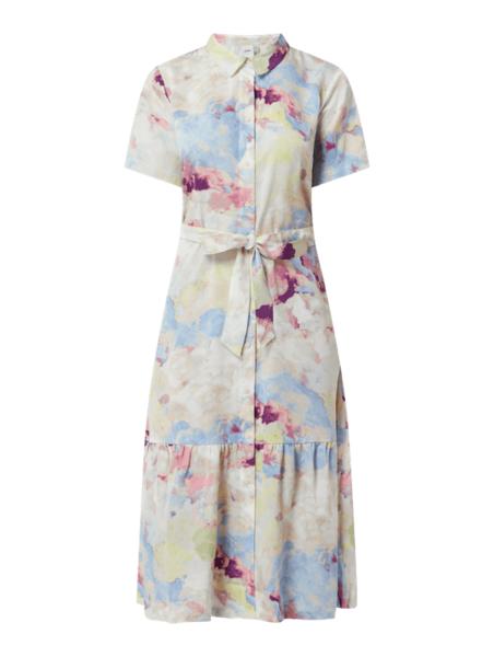 Sukienka Ichi koszulowa z dekoltem w kształcie litery v