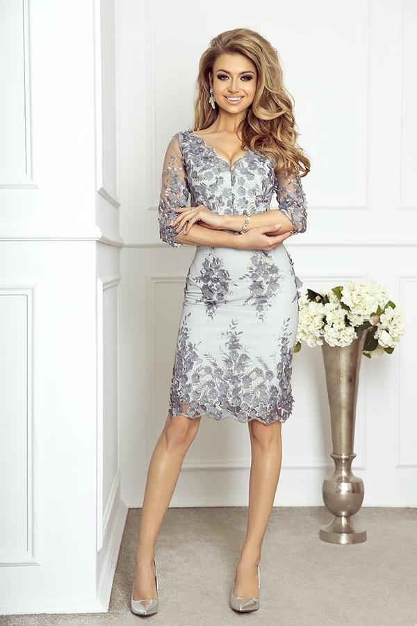 Sukienka imesia.pl dopasowana z długim rękawem