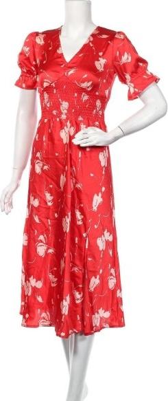 Sukienka Influence midi z krótkim rękawem z dekoltem w kształcie litery v