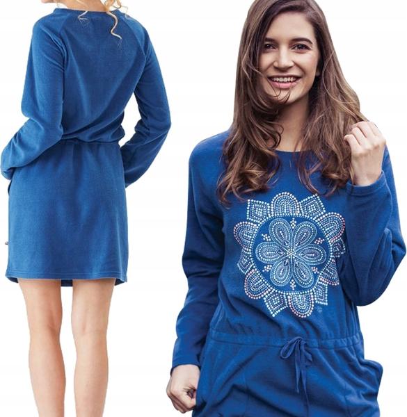Sukienka Inna w stylu casual mini z długim rękawem