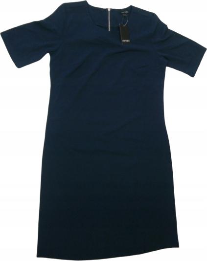 Sukienka Inna z okrągłym dekoltem z krótkim rękawem mini