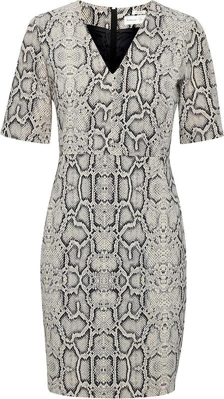Sukienka InWear z dekoltem w kształcie litery v mini prosta