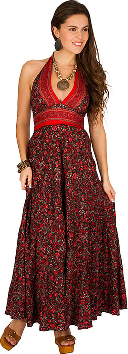 Sukienka Ipanima maxi z dekoltem w kształcie litery v