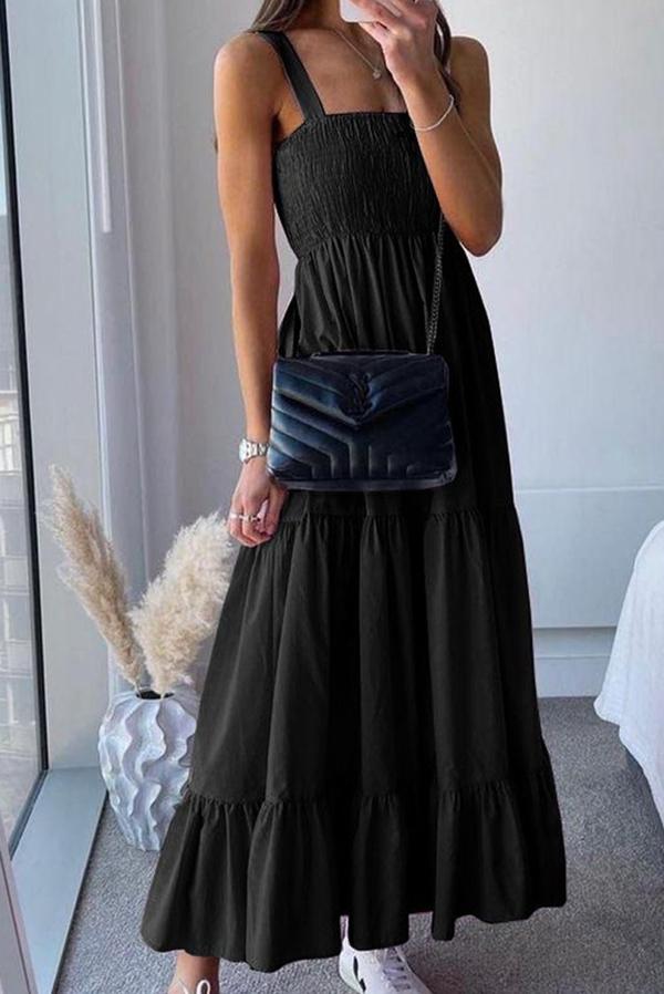 Sukienka IVET maxi z dekoltem w kształcie litery v bez rękawów