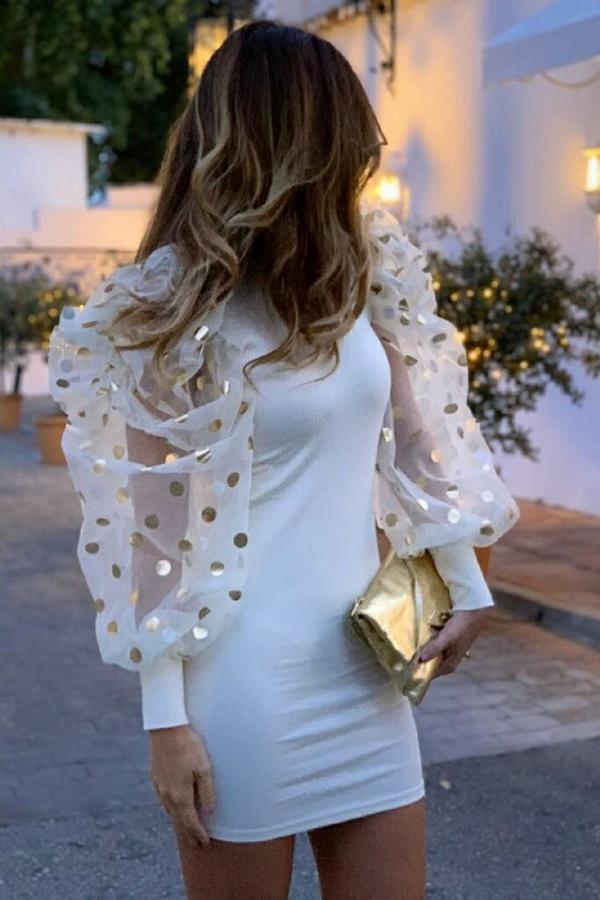 Sukienka IVET mini z długim rękawem