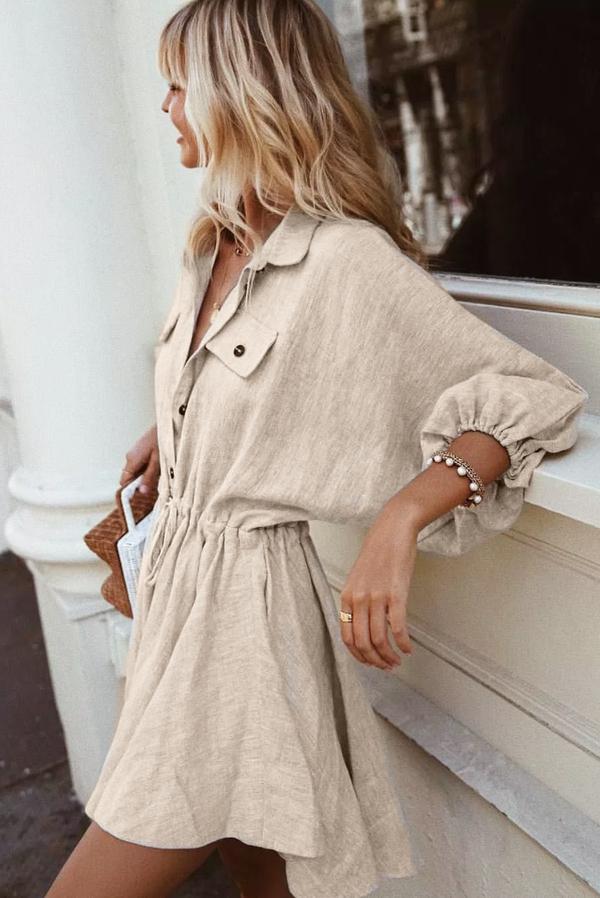 Sukienka Ivet.pl mini z długim rękawem