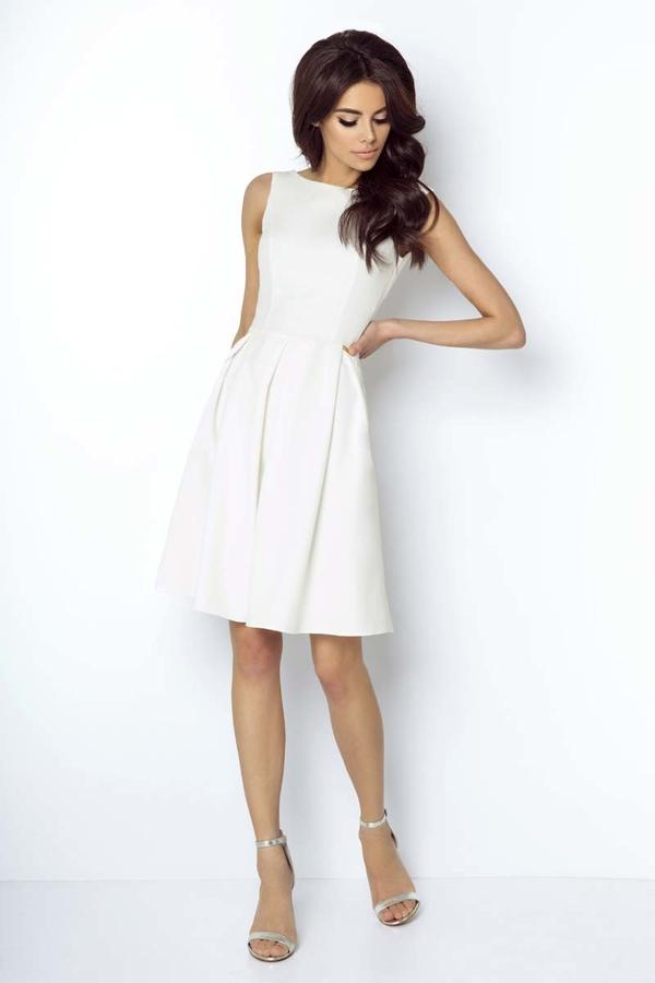 Sukienka Ivon bez rękawów mini z dekoltem w łódkę