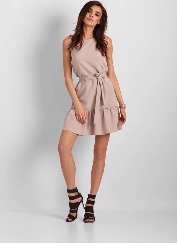 Sukienka Ivon bez rękawów mini z okrągłym dekoltem