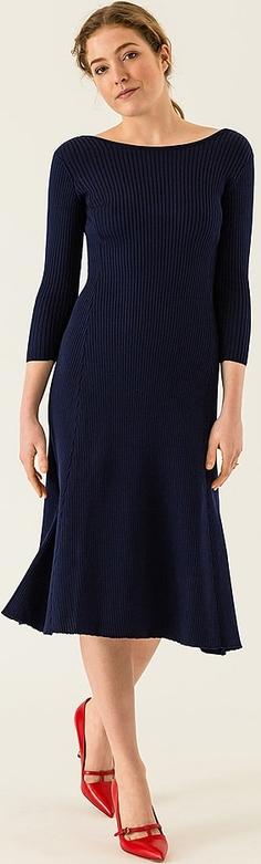 Sukienka Ivy & Oak midi z długim rękawem