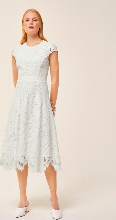 Sukienka Ivy & Oak w stylu boho rozkloszowana z krótkim rękawem