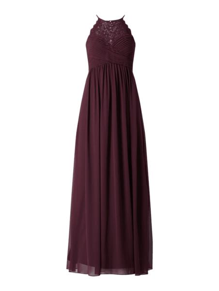 Sukienka Jake*s Cocktail z szyfonu z dekoltem w kształcie litery v bez rękawów