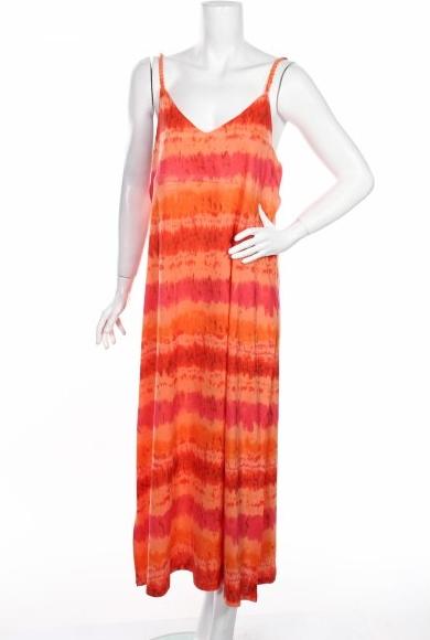 Sukienka Jane Ashley na ramiączkach prosta z dekoltem w kształcie litery v
