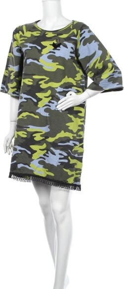Sukienka Jijil z długim rękawem mini z okrągłym dekoltem