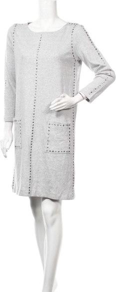 Sukienka Joan Vass z długim rękawem prosta