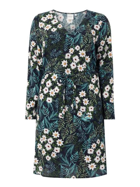 Sukienka Junarose prosta mini z dekoltem w kształcie litery v