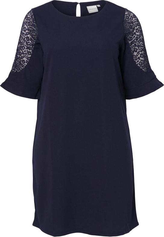 Sukienka Junarose z dżerseju w stylu casual z krótkim rękawem