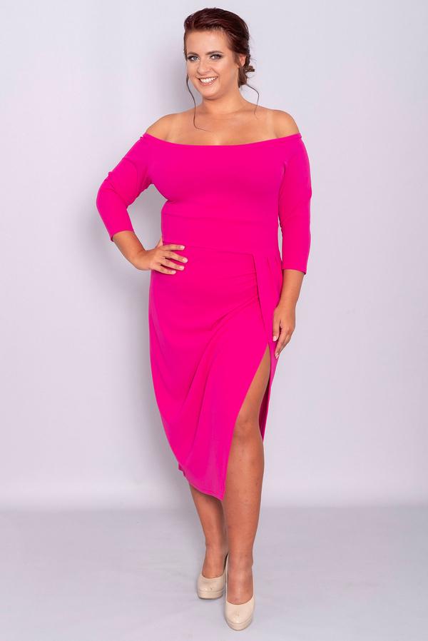 Sukienka KARKO hiszpanka dla puszystych z tkaniny