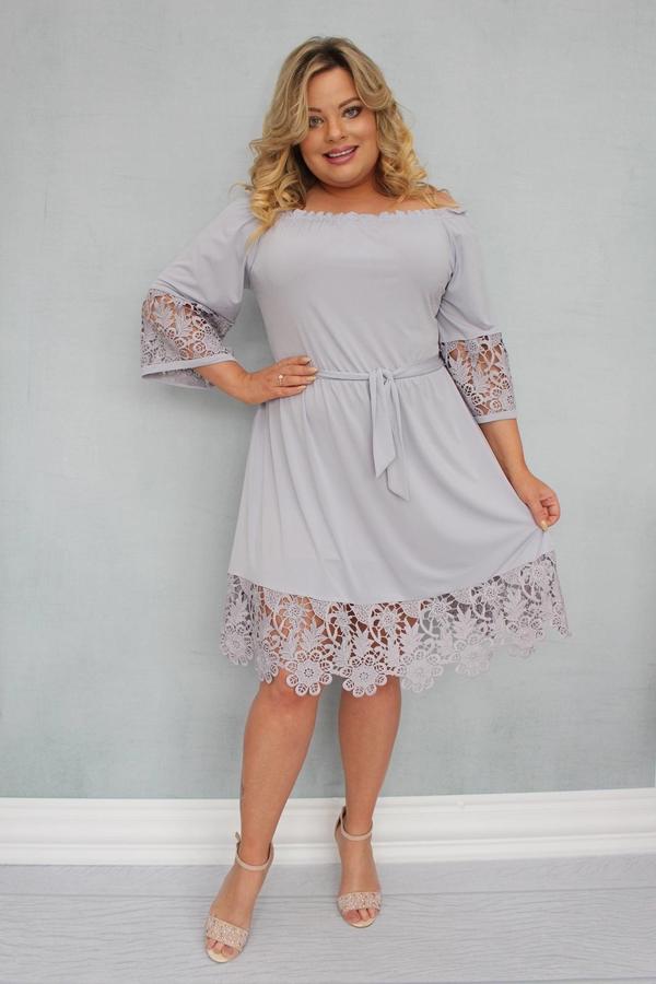 Sukienka KARKO hiszpanka mini z długim rękawem