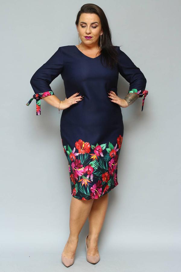 Sukienka KARKO midi ołówkowa z tkaniny