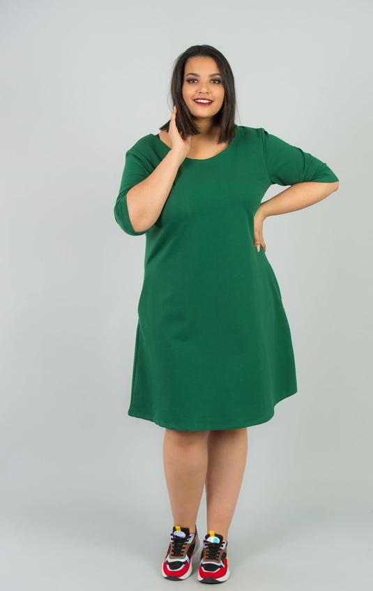Sukienka KARKO midi w sportowym stylu z dresówki