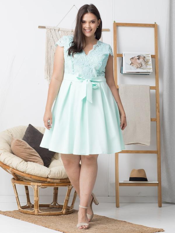 Sukienka KARKO mini z dekoltem w kształcie litery v