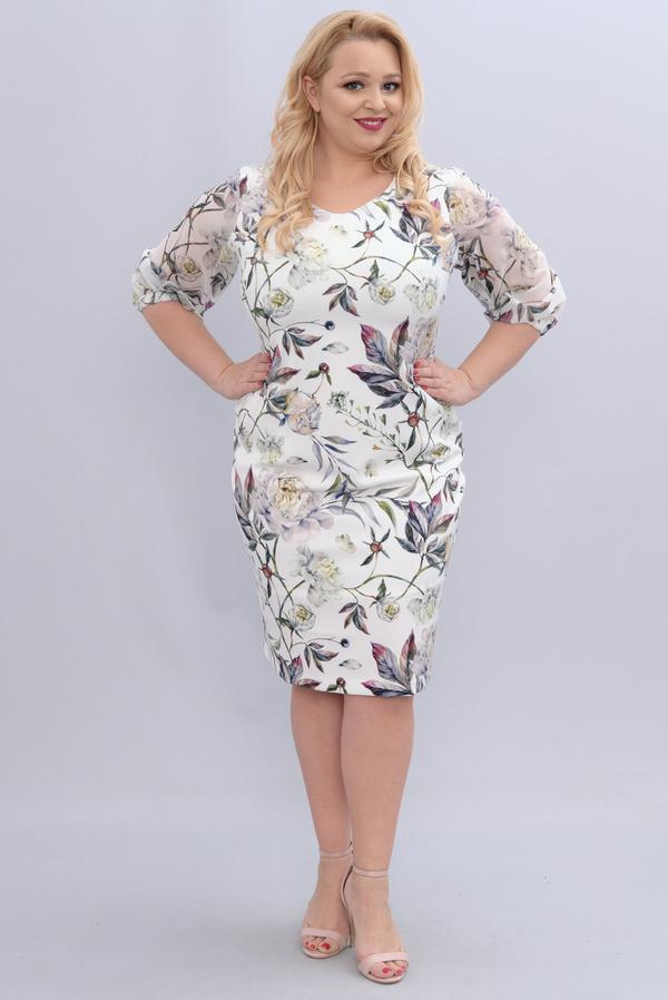 Sukienka KARKO ołówkowa z długim rękawem
