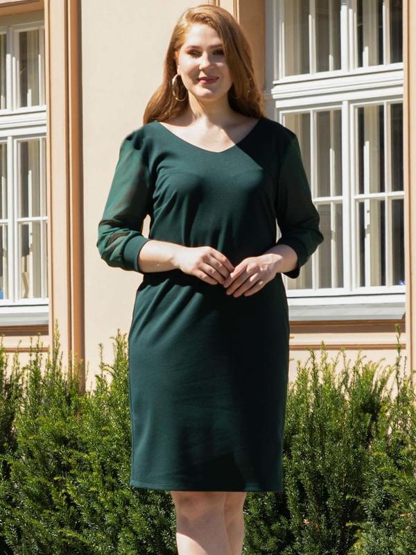 Sukienka KARKO ołówkowa z tiulu