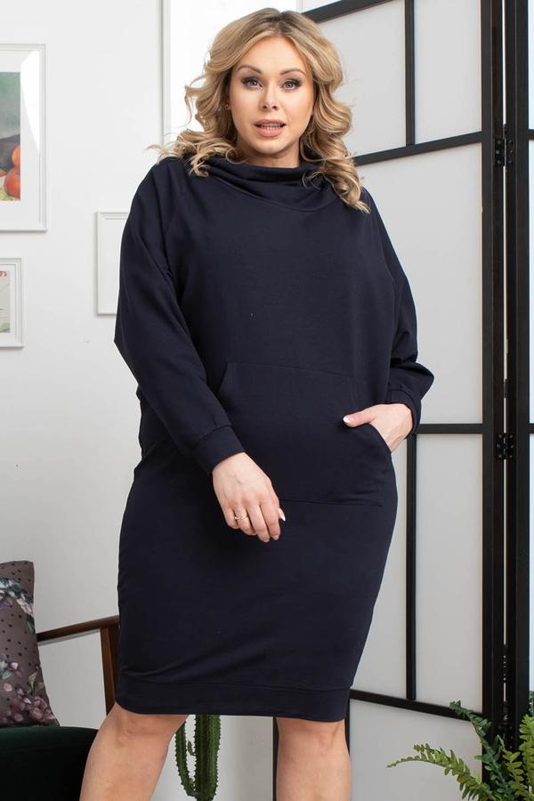 Sukienka KARKO w stylu casual prosta z dresówki