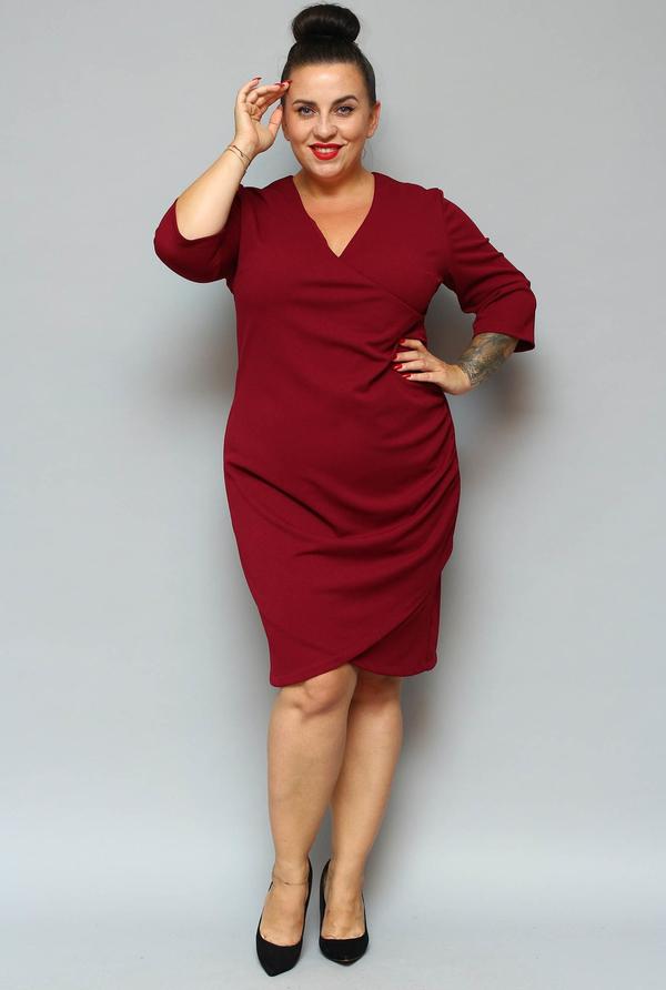 Sukienka KARKO z długim rękawem ołówkowa