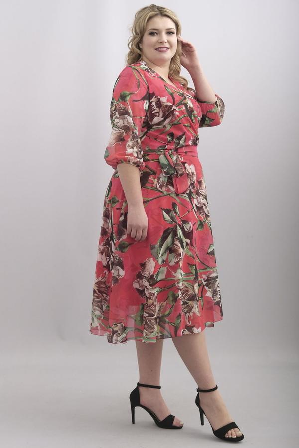 Sukienka KARKO z długim rękawem z tkaniny