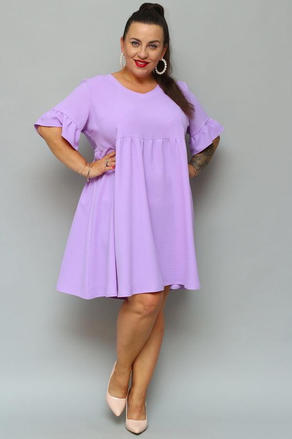 Sukienka KARKO z krótkim rękawem mini z tkaniny