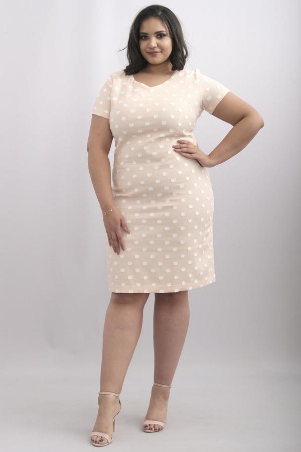 Sukienka KARKO z krótkim rękawem ołówkowa