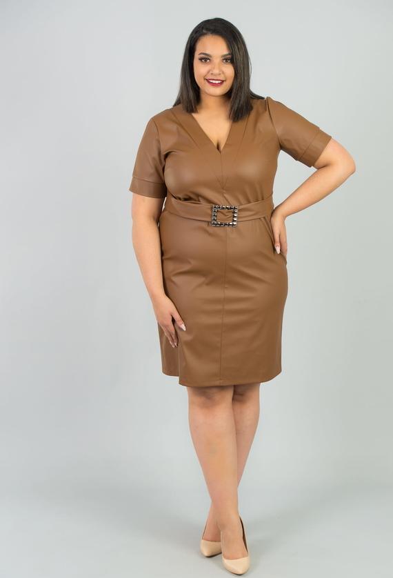 Sukienka KARKO z krótkim rękawem ołówkowa mini