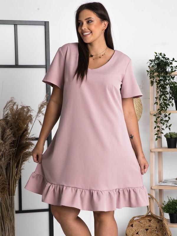 Sukienka KARKO z krótkim rękawem trapezowa mini