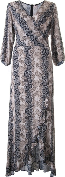 Sukienka Kaskada z długim rękawem midi