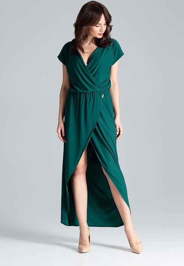 Sukienka Katrus z krótkim rękawem maxi