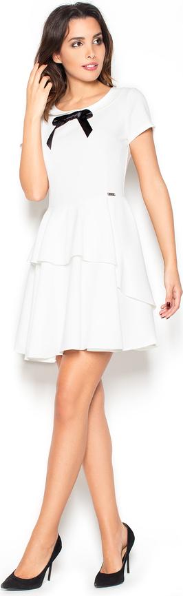 Sukienka Katrus z krótkim rękawem rozkloszowana mini