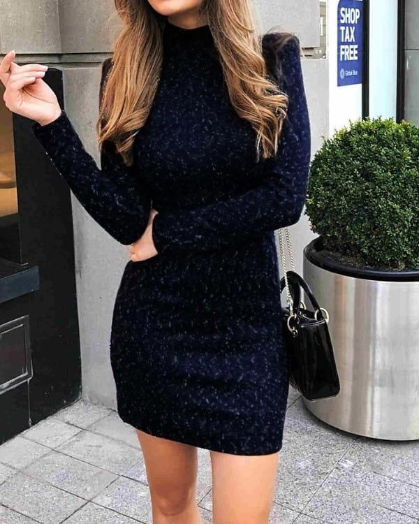 Sukienka Kendallme dopasowana w stylu casual z golfem