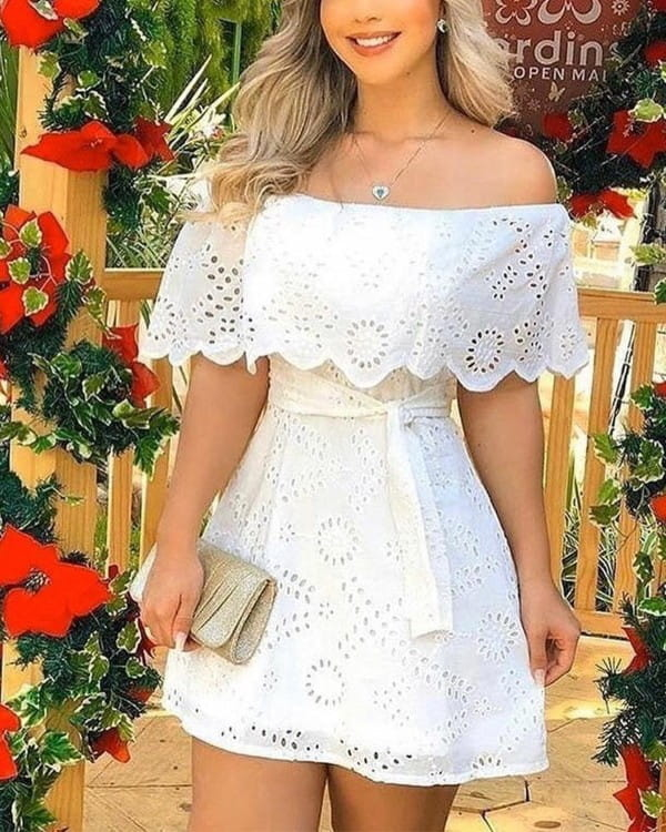 Sukienka Kendallme hiszpanka mini z krótkim rękawem