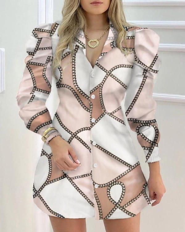 Sukienka Kendallme koszulowa mini z długim rękawem