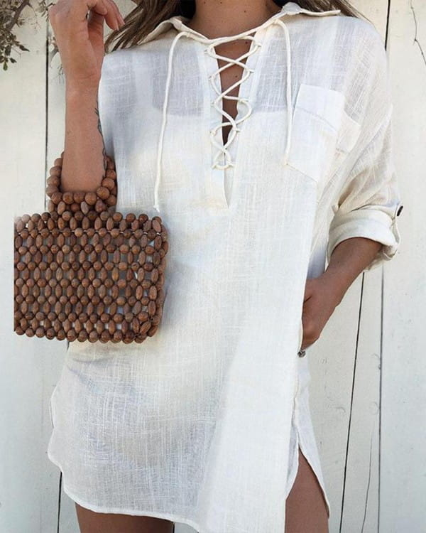 Sukienka Kendallme koszulowa z bawełny w stylu casual