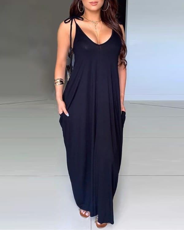 Sukienka Kendallme maxi na ramiączkach prosta