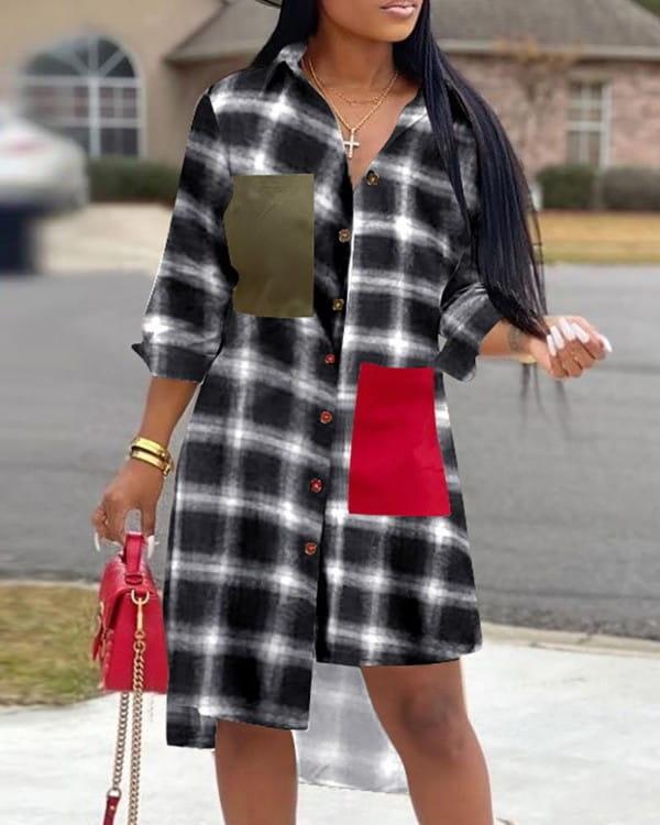 Sukienka Kendallme mini z długim rękawem koszulowa