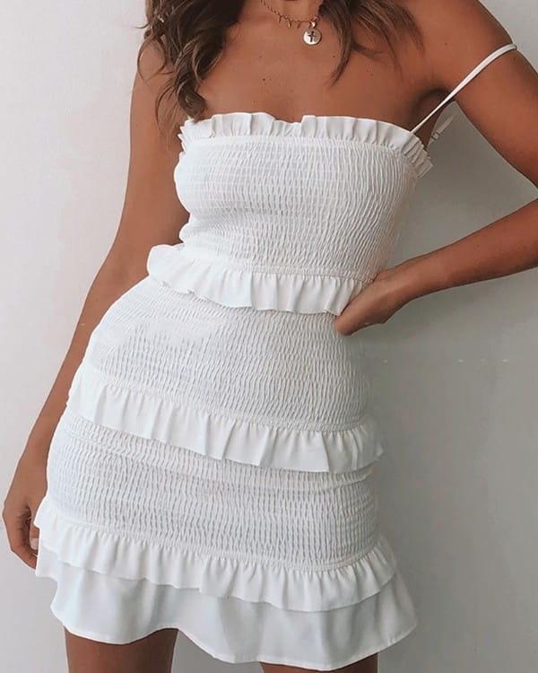 Sukienka Kendallme na ramiączkach hiszpanka mini