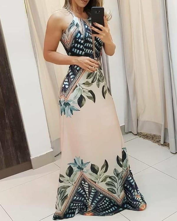 Sukienka Kendallme na ramiączkach maxi z bawełny