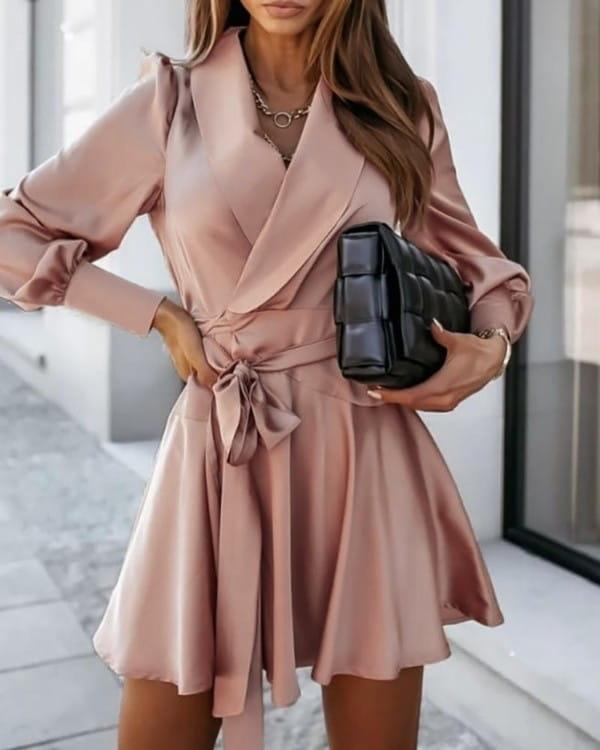 Sukienka Kendallme w stylu casual z długim rękawem mini