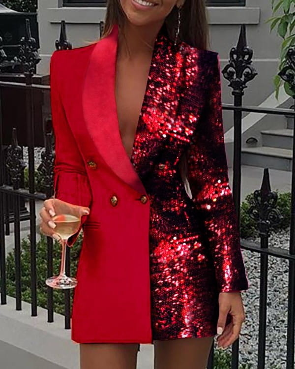Sukienka Kendallme z dekoltem w kształcie litery v z długim rękawem