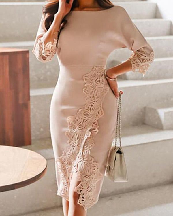 Sukienka Kendallme z długim rękawem ołówkowa