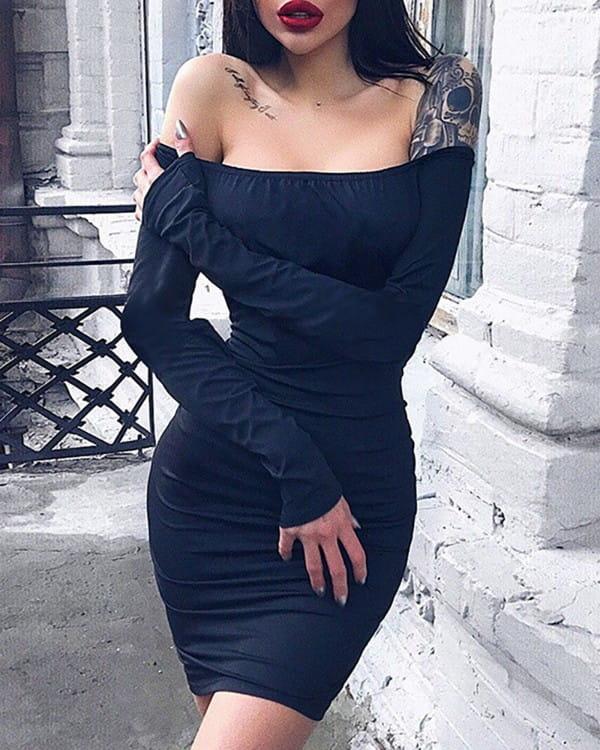 Sukienka Kendallme z odkrytymi ramionami hiszpanka mini