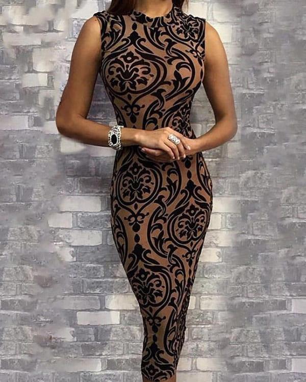 Sukienka Kendallme z okrągłym dekoltem bez rękawów midi